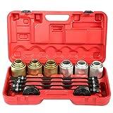 Herramientas de inserción de extracción de cojinetes, 26 piezas Juego de herramientas de inserción de extracción de cojinetes de cojinetes universales de coche, Kit de manguito de extracción de presió
