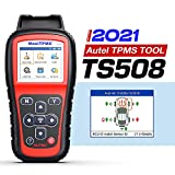 2021 Autel TS508 Tire Pressure Monitoring System Tool, Professional TPMS Programming and Relearn Tool, Activate/Relearn All Brand Sensors, Read/Clear DTCs, Reset TPMS Light (Upgraded of TS401/408/501)