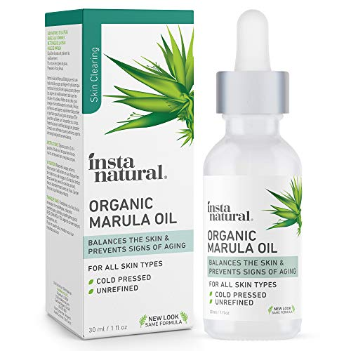 Organic Marula Oil - 100% Pure, Non GMO, Cold Pressed, Unrefined, Moisturizing and Balancing for Hair, Body, Hands or Cuticle & Normal to Oily Skin - Complete Organics by InstaNatural - 1 oz