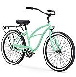 sixthreezero Around The Block Women's Single-Speed Beach Cruiser Bicycle, 26' Wheels, Mint Green with Black Seat and Grips