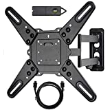 VideoSecu ML531BE2 TV Wall Mount kit with Free Magnetic Stud Finder and HDMI Cable for Most 26-55 TV...