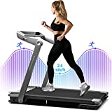 WEKEEP Folding Portable Treadmill Compact Walking Running Machine for Home Office Workout Electric Treadmills for Small Spaces Treadmills with LED Display Device Holder