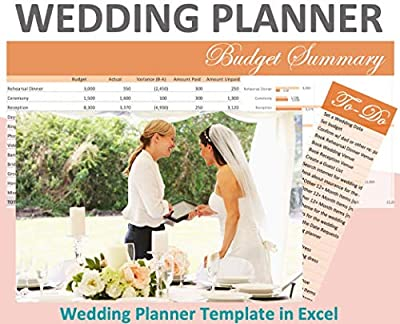WEDDING PLANNING TEMPLATE - EXCEL SPREADSHEET. ORGANIZE and TRACK COSTS and BUDGETS! Venue, food, party favors, photography, and many more expense categories. Totals auto-populate in a dashboard. TO-DO LIST with 90+ typical items pre-loaded. You can ...