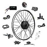 EBIKELING 36V 500W 26' Geared Waterproof Electric Bike Kit - Ebike Conversion Kit - Electric Bike Conversion Kit (Rear/LED/Twist)