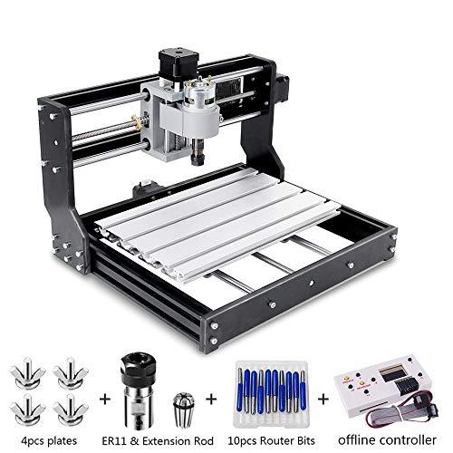 CNC 3018 Pro Engraver Fräsmaschine, Handwerker168 Upgrade-Version GRBL-Steuerungs-DIY-Mini-CNC-Maschine, 3-Achsen-Leiterplattenfräsmaschine mit Offline-Controller, mit ER11 und 5mm Verlängerungsstange