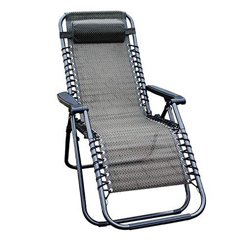 Mojawo Comfort Gartenstuhl - Relaxsessel - Relaxstuhl - Liegestuhl - klappbar - verstellbar - mit Kopfpolster