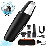 BOLWEO Portable Handheld Vacuum Cleaner, Cordless, 7KPA Powerful Suction, Rechargeable Car Hand Vacuum, Wet-Dry Lightweight Hand Vac for Home Pet Hair, Car Cleaning