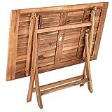 IHD Akazienholz Gartensitzgruppe 5tlg Gartentisch mit 4 Gartenstühlen klappbar - 6
