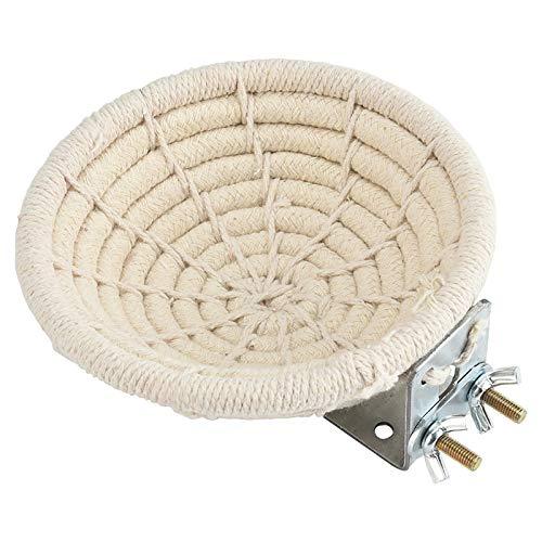 Furpaw Vogelnest, Handgefertigtes Brutnest aus Baumwolle für Vögel, Nester für Wellensittiche Sittiche Nymphensittiche Kanarische Finken