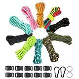 Achort Lot de 10 cordes de paracorde colorées pour bracelets de survie en...