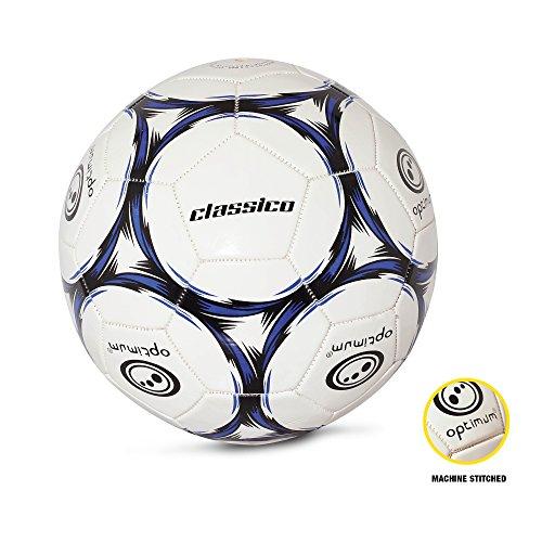 OPTIMUM Football Classico Herren-Fußball, Weiß-schwarz/blau, 5