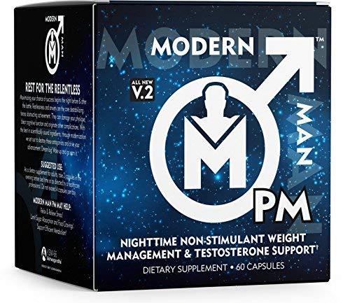 Modern Man PM Fat Burner - Sleep Aid, Weight Loss & Testosterone Booster for Men, Best Night Time Metabolism Booster & Caffeine Free Sleep Supplement | Burn Belly Fat & Build Lean Muscle, 60 Pills 1