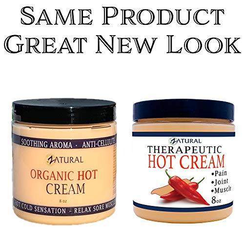 Organic Hot Cream-Cellulite Cream-Muscle Rub-Slimming Cream-Pain Relief-Body Wraps-Belly Fat-Skin Firming & Weight Loss-Professional Therapeutic Grade-Doctor Formulated (8 Ounce) 4
