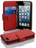 Cadorabo Coque pour Apple iPhone 5 / iPhone 5S / iPhone Se en Rouge Cerise -...