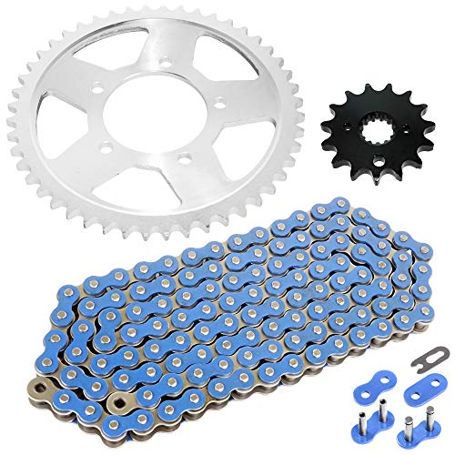 Caltric Drive Chain and Sprockets Kit Compatible With SUZUKI VZ800 Marauder 800 1997 1998 1999 2000 2001 2002 2003 2004