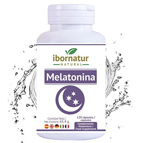Melatonina para conciliar el sueño   Beneficioso para dormir mejor por más tiempo y relajarse   Reduce el insomnio, estres y fatiga   Extractos de plantas para descansar   Complemento alimenticio