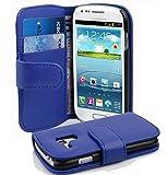 Cadorabo Coque pour Samsung Galaxy S3 Mini Bleu CÉLESTE Housse de Protection Etui Portefeuille Cover pour S3 Mini – Stand Horizontal et Fente pour Carte