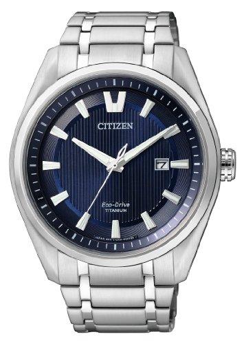 Citizen Herren Analog Quarz Uhr mit Titan Armband AW1240-57L