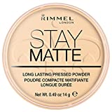 Rimmel London Stay Matte Powder Polvos de Maquillaje Tono 001 - 14 gr