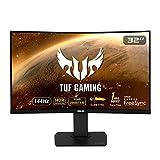 ASUS TUF Gaming VG32VQ Gaming Monitor, 32' (31.5') WQHD (2560x1440), Curved VA, up to 144Hz, 1ms MPRT, DP, HDMI, ELMB Sync, FreeSync