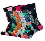 Lot de 6 paires de chaussettes colorées RedMaple en coton peigné pour homme Taille 39-46 - Multicolore - Taille Unique