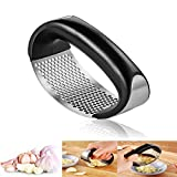 Neepanda Stainless Steel Garlic Press Rocker Garlic Chopper Crusher Rocking Solid Mincer Ginger Crusher Squeezer - Easy to Clean, Dishwasher Safe, Perfect Gift for Any Occasion