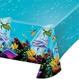 Creative Converting Ocean Party Plastic Table Cover, 54 by 108-Inch - 725325