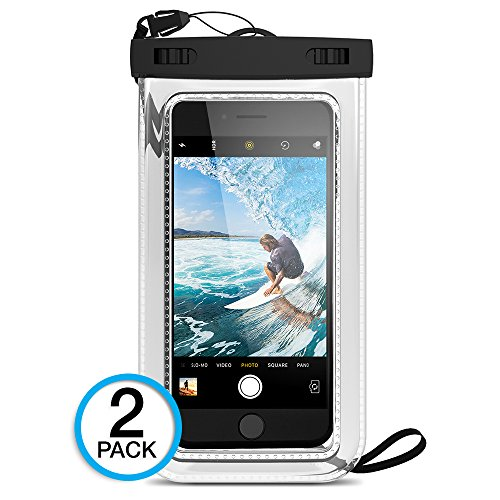 (2Pack) Universal Waterproof Case, Maxboost Cellphone Dry Bag Pouch for iPhone 7 6s 6 Plus, SE 5s 5c 5, Galaxy s8 s7 s6 Edge, Note 5 4, LG G6 G5,HTC 10,Sony Nokia up to 6.0' Diagonal