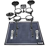 LyxJam 7-Piece Electronic Drum Kit, Professional Drum Set with Real Mesh Fabric, 209 Preloaded Sounds, 50 Play-Along Songs, Recording Capability, Cymbals & Kick Pedal, Drum Sticks With Drum Rug Mat