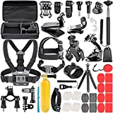 Neewer Kit de Accesorios de Cámara de Acción 58 en 1 para GoPro Hero 9 8 MAX 7 6 5 4 Negro 2018 Sesión, SJ4000/5000, para Nikon y Sony Deporte DV para Montar Camping y Más