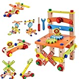 5 in 1 Abacus Wooden Activity Chair, Learning & Educational Toddlers, Counting Beads Toys Best Gift for Kids, Assembling and Disassembling Toys for Boy and Girls.