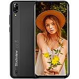 Smartphone Débloqué, Blackview A60 (2020) Téléphone Portable, 6.1 Pouces Pas Cher Écran, 4080mAh Batterie, Camera 13MP+5MP, Double Nano-SIM, Capacite 16Go (Extensible à 128Go), Android 3G Mobile