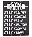 Gym Signs for Home Gym Decor - Motivational Wall Art for Gym - Inspirational Exercise Workout Wood Plaque for Wall - Fitness Crossfit Peloton Spin Decorations