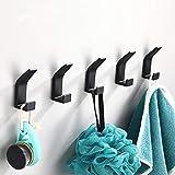 5 Pièces Crochet Adhésif,Crochet Double Porte Serviette Salle de Bain,Accroche...