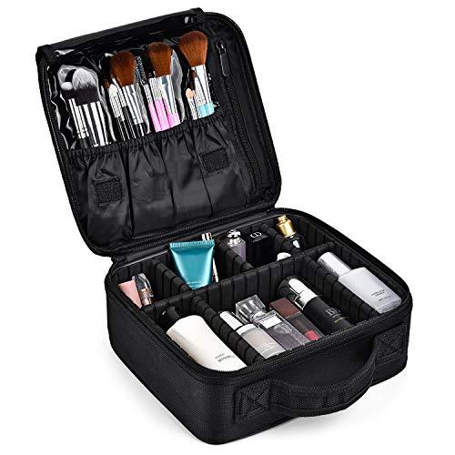 Make Up Bag Professional Beauty Case da Viaggio Makeup Astuccio per Trucco Valigetta Organizzativa Borsa Trucchi Custodia Cosmetica Impermeabile con Divisori Regolabili