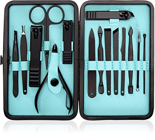 15-Piece Manicure Set for Women Men Nail Clippers...