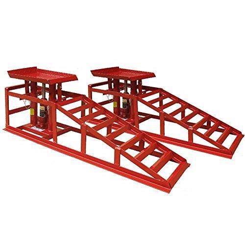 Deet® Auffahrrampe für Autos, mit Wagenheber, 1,5 Tonnen Wagenheber, für extra Hebebühne, professionelles hydraulisches Hebe-Set