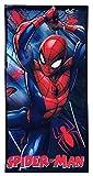 Spiderman ET4214 Serviette de plage en microfibre Marvel 70 x 140 cm Noir