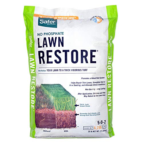 Safer Brand 9334 Lawn Restore Fertilizer  25 lb,White