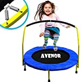 Toddler Trampoline With Handle - 36' Kids Trampoline With Handle - Mini Trampoline w/ Sturdy Frame, Coil Spring, Safety Padded Cover -Heavy Duty Mini Trampoline Indoor Outdoor Toddler Trampoline