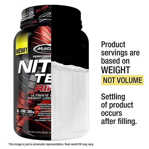 Protein Powder for Weight Loss | MuscleTech Nitro-Tech Ripped | Lean Whey Protein Powder + Weight Loss Formula | Lose Weight | Weight Loss Protein Powder for Women & Men | Chocolate, 4 lbs (42 Serv) 4