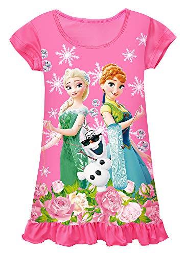 WNQY Toddler Night Gown Little Girls Princess Pajamas Dress