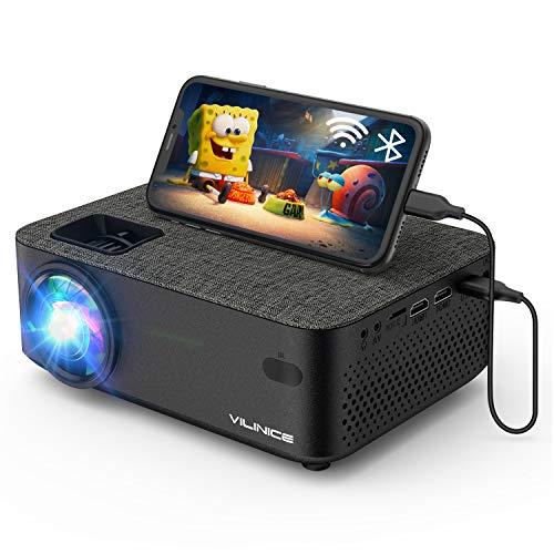 Vidéoprojecteur, VILINICE WiFi Mini Projecteur Full HD 5500 Lumens Retroprojecteur avec 1080P et 240' Supported, Projecteur LED Compatible HDMI VGA USB SD AV Ordinateur Smartphone Home Cinéma