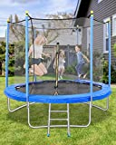 MaxKare 8FT Trampoline for Kids Adults with Safety Enclosure Net, Leisure & Fitness, Capacity 264...