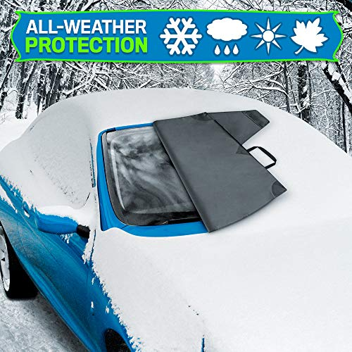 BDK Windshield Cover for Ice and Snow – Waterproof Magnetic Frost Guard for Winter, Freeze Protector for Auto Truck Van and SUV