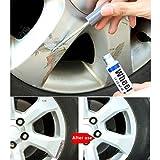Automotive High Performance Wheel Paint, Car Wheel Scratch Repair Pen Silver