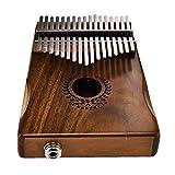 feileng カリンバ 親指ピアノ フリカ楽器 Kalimba 高品質アカシア材 ナチュラルカラー (17キー) 国際標準Cチューン