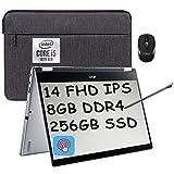 2021 Flagship Acer Spin 3 2 in 1 Laptop 14' FHD IPS Touchscreen Intel Quad-Core i5-1035G1 (Beats i7-8550U) 8GB DDR4 256GB SSD Fingerprint Backlit Webcam Thunderbolt Win 10 + iCarp Wireless Mouse