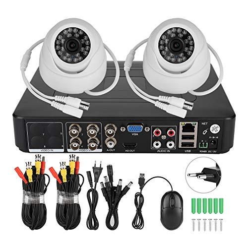 Deror Kit Cámara de videovigilancia para videovigilancia coaxial AHD 1080P 2CH Pixel HD 200W (Norma europea 100-240 V.)
