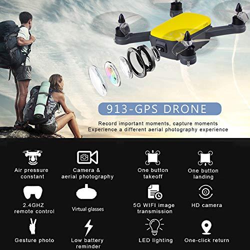 Kedelak 913 1080P 5G WiFi FPV Drone con Fotocamera Brushless GPS Quadcopter Gesture Foto altitudine Tenere Giocattolo per Adulti